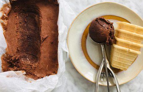 Chocolade ijs maken zonder ijsmachine