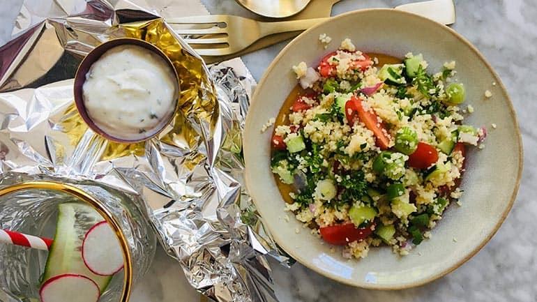 Makkelijke couscous salade voor bij de BBQ