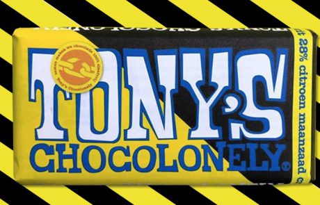 Tony's Chocolonely nieuwe reep wit maanzaad citroen crumble