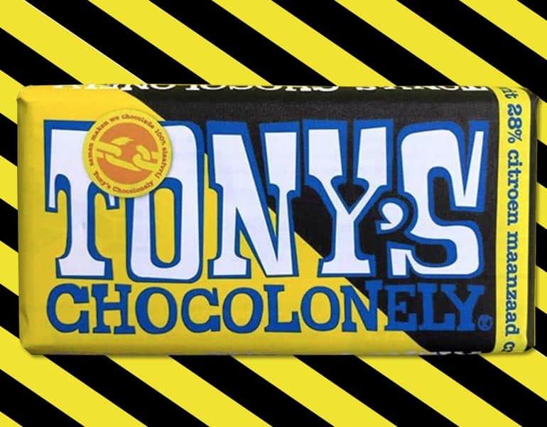 Tony's Chocolonely wit maanzaad citroen crumble