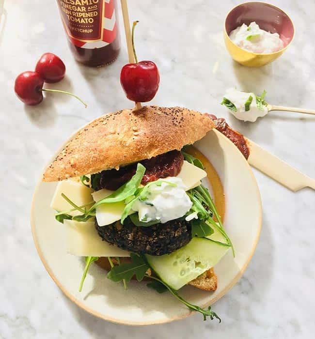 Vegaburger recept van champignons