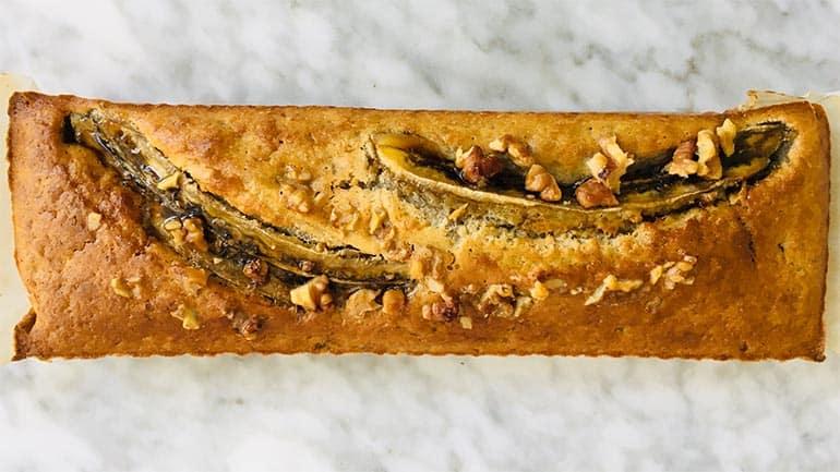 Banaan-walnotenbrood recept