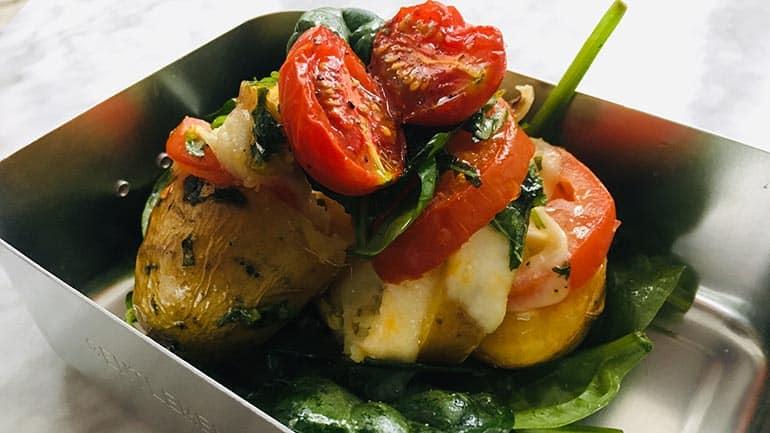 Caprese aardappels uit de oven