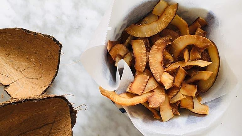 Chips van kokos, zo maak je het