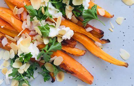 Geroosterde wortels met ricotta