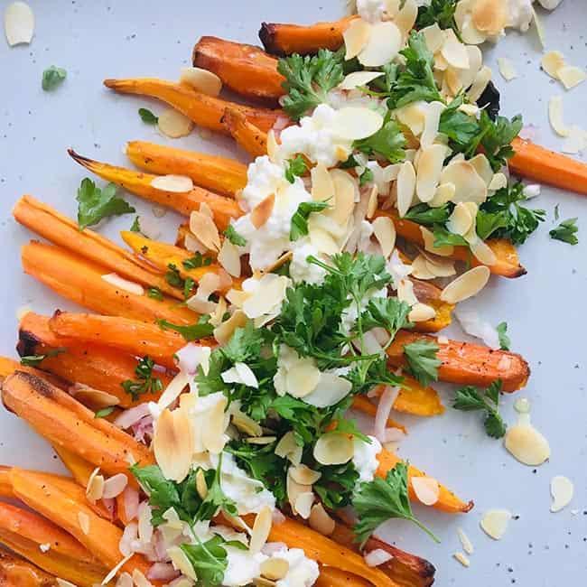 Geroosterde wortels met ricotta recept