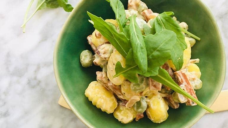 Gnocchi met tuinbonen en creme fraiche recept