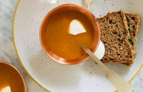 Linzensoep met bulgur en Griekse yoghurt