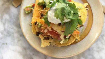 Nachos met kaas en koriander simpel recept