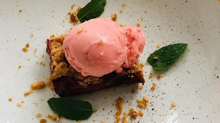 Rabarber crumble taart met havermout simpel recept