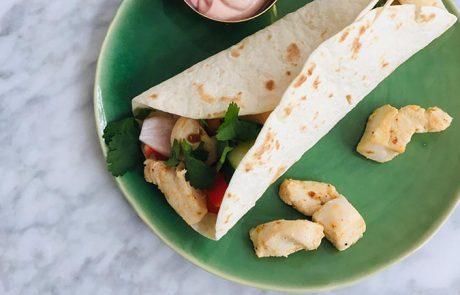 Gezonde wraps met kip recept