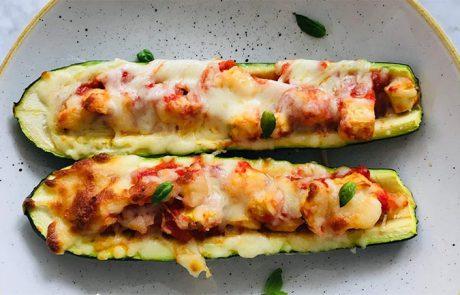 Pizza van courgette en chorizo