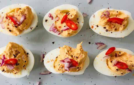 Duivels ei recept voor pittige gevulde eieren