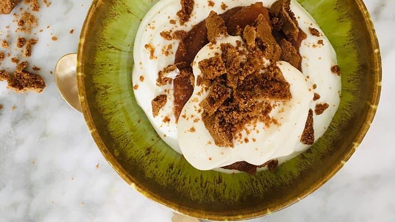 Appel kwark dessert