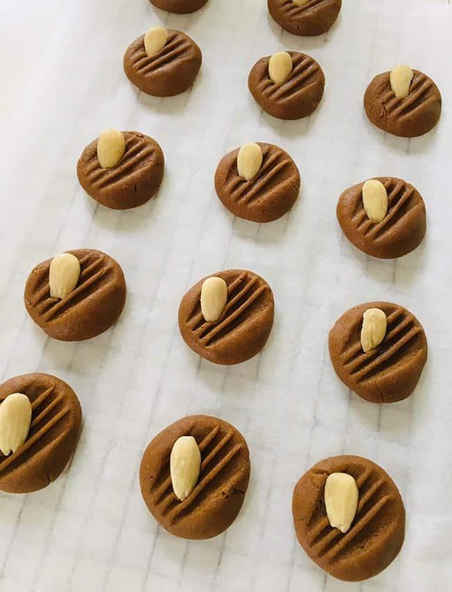 Chewy speculaas koekjes in de oven