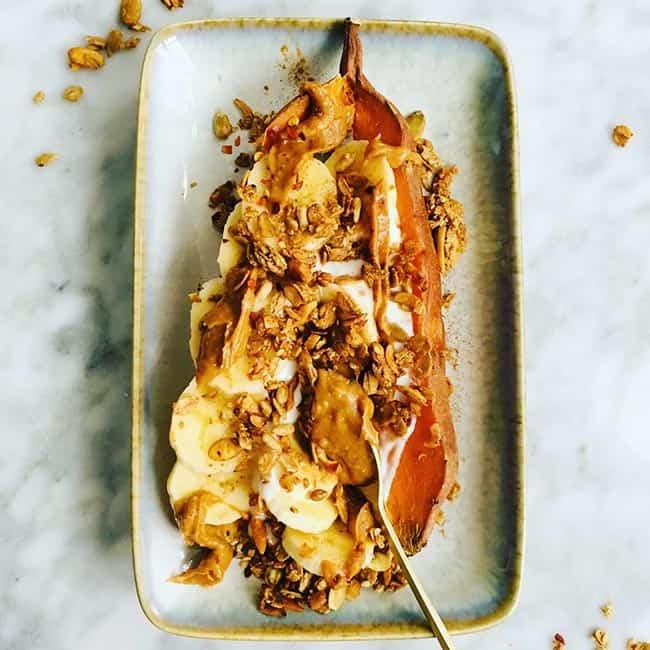 Ontbijt met zoete aardappel recept
