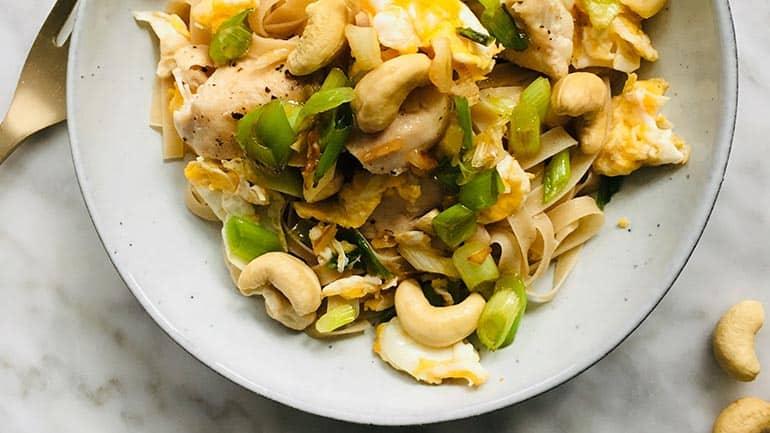 Pad thai met cashewnoten recept