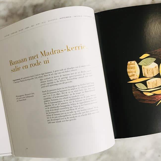 Recepten van Alain Passard kookboek bladzijde