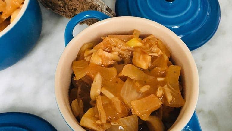 Vegetarische hachee van jackfruit