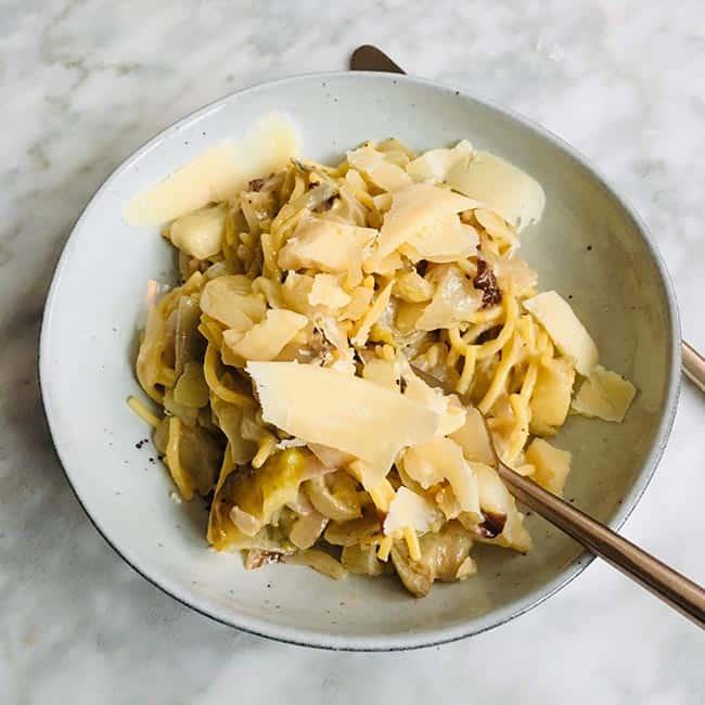 Spaghetti met witlof recept