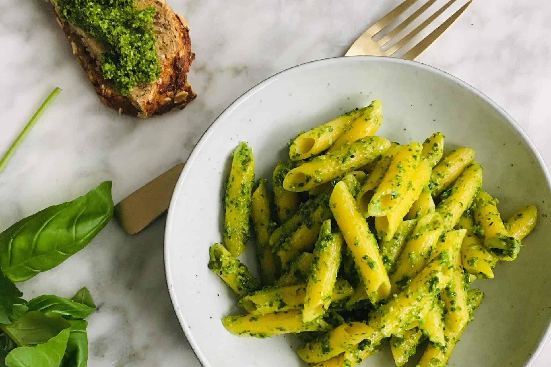 Pasta met pesto van boerenkool simpel recept