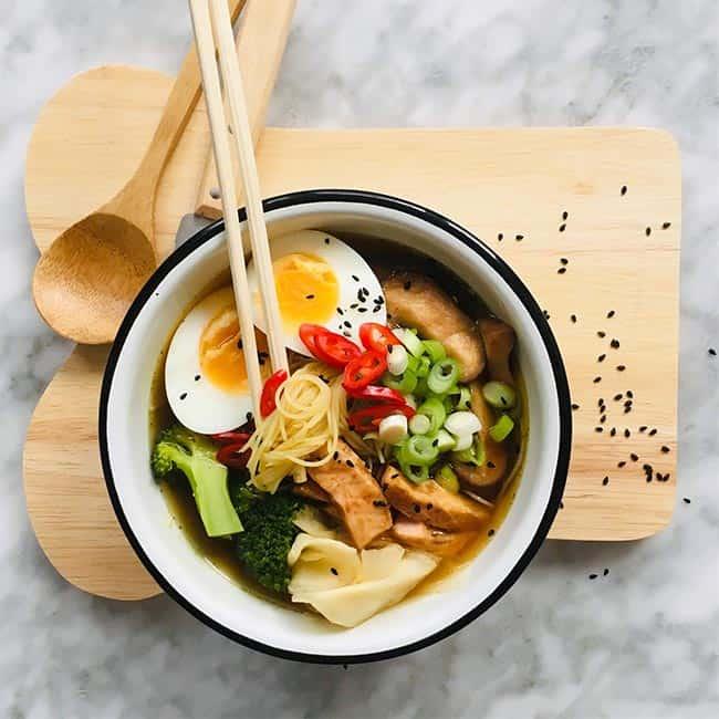 Snelle ramen soep met zalm simpel recept