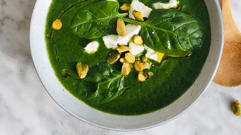 Spinazie knolselderij soep recept