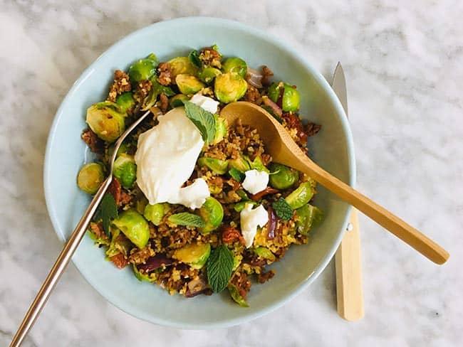 Couscous met spruiten recept