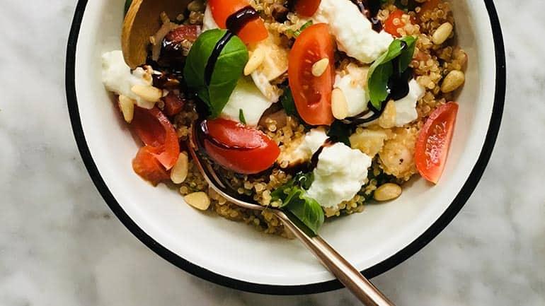 Quinoa salade caprese recept