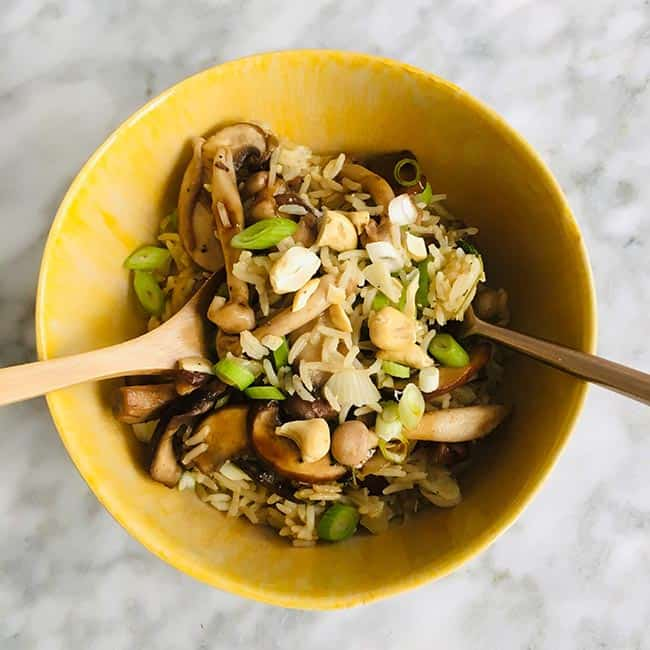 Rijst met paddestoelen simpel recept