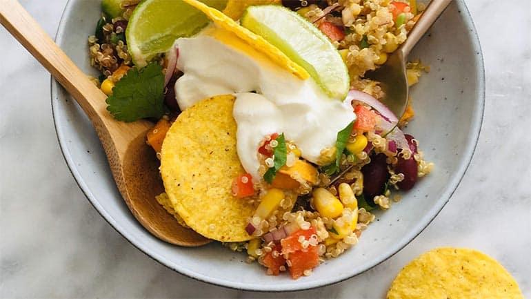 Mexicaanse quinoa salade recept