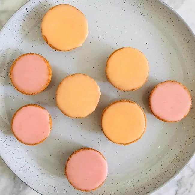 Oranje en roze koeken recept
