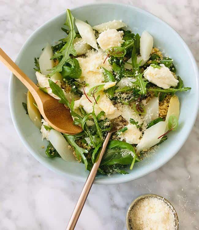 Quinoasalade met asperges simpel recept