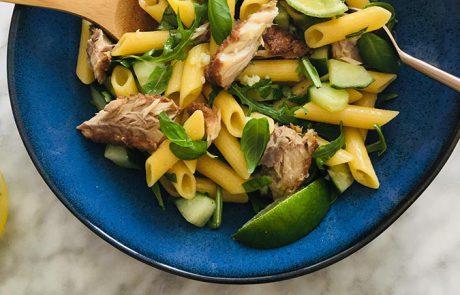 Salade van gerookte forel en citroen recept