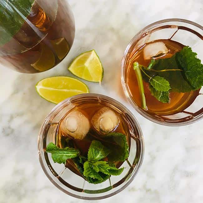 Ice tea green recept