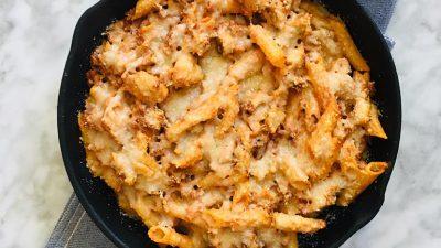 Pasta uit de oven met ricotta saus recept