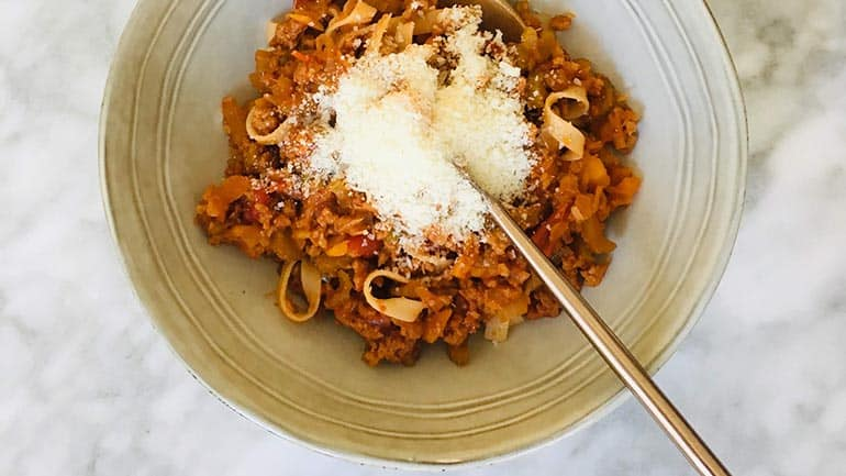 Traditionele pasta bolognese