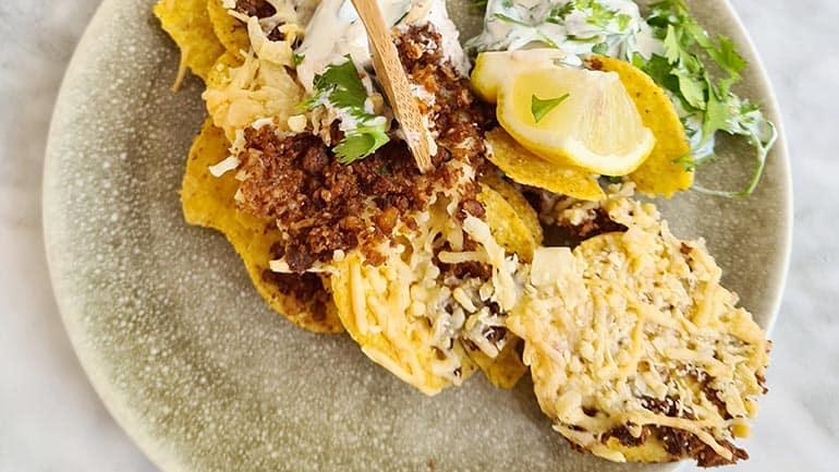 Nachos kaas en koriander