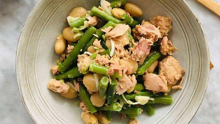 Snelle salade niçoise limabonen recept