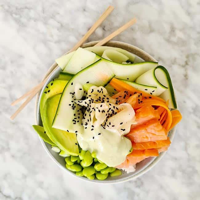 Poke bowl zalm simpel recept