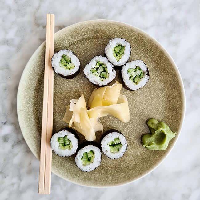 Sushi komkommer recept