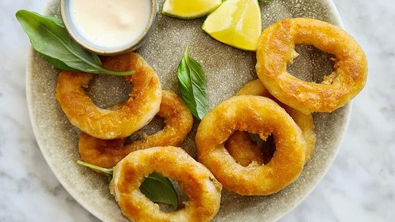 Calamares met limoen mayo recept