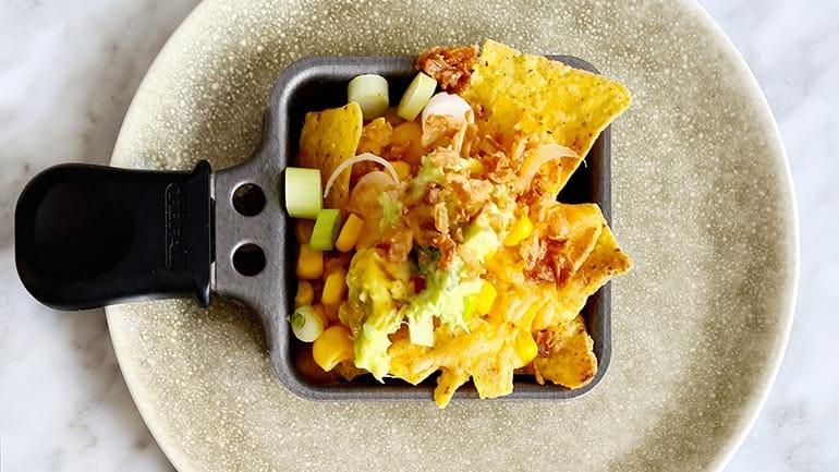 Gourmetten met nachos maken