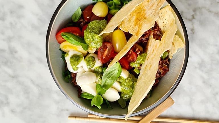 Italiaanse rode rijst salade