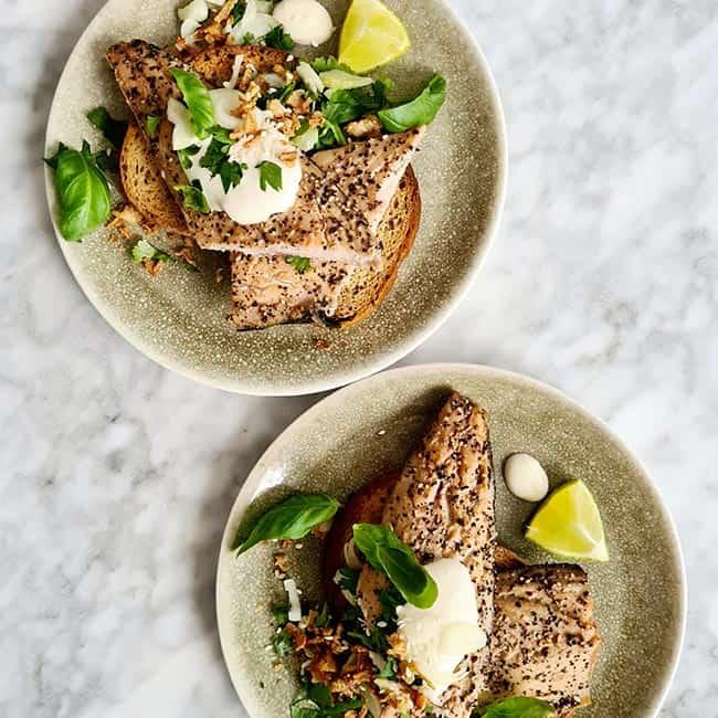 Toast met makreel en citroenmayo gezond recept