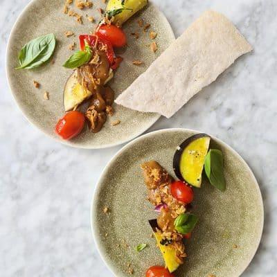 Vegetarische shaslick groente recept