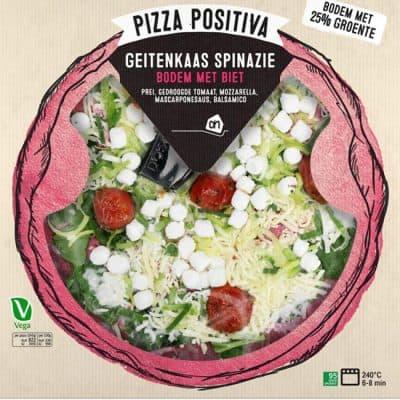 Pizza Positiva AH Geitenkaas spinazie
