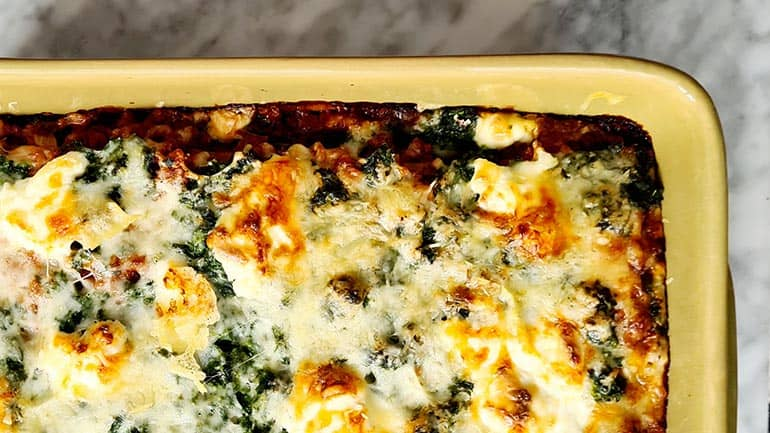 Lasagne met spinazie