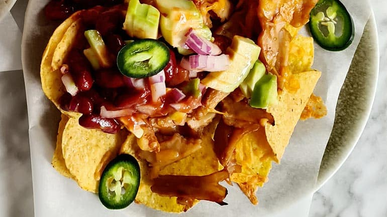 Vegan nacho pulled chicken recept