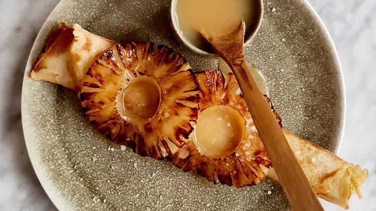 Pannenkoek ananas caramel